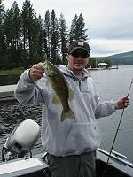 Jeffl with a nice small mouth bass.